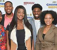 """The 2017 NNPA """"Discover The Unexpected Journalism Fellows (from left-right): Noni Marshall, Alexa Spencer, Darrell Williams, Tiana Hunt, Ayron Lewallen, Taylor Burris, Jordan Fisher and Kelsey Jones. (Freddie Allen/NNPA)."""