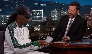 Snoop Dogg and Jimmy Kimmel (photo via youtube.com)