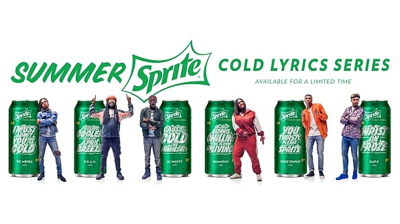 Sprite® is helping fans stay cool and refreshed this summer with the Summer Sprite™ Cold Lyrics Series™ featuring cold-inspired lyrics ...