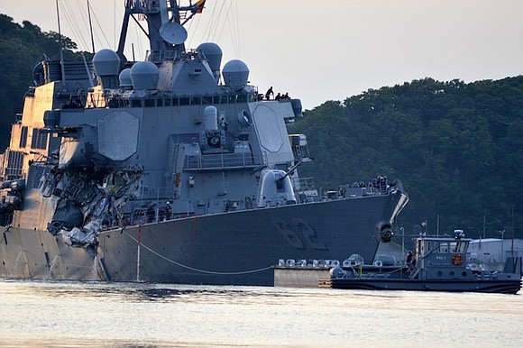 Seven missing sailors from the USS Fitzgerald were found dead in flooded berthing compartments following the warship's collision with a ...