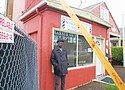 Rickey Brame is faced with thousands of dollars of expenses and the closing of a barbershop started by his father, Herman Brame Sr., when a property owner next door decides to remodel right up to the property line forcing him to move an electrical meter and trigger new requirements for the entire building be brought up to current commercial standards. Electricity to the barbershop at 543 N.E. Killingsworth St. is scheduled to be cut at the end of the week as plans to remodel an old key and locksmith shop adjacent to the property into a restaurant has been approved by the city of Portland.