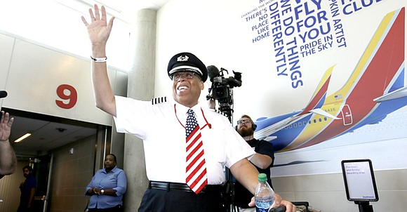 Nobody at Southwest told Louis Freeman he would be the first Black pilot in the airline's history when he was ...