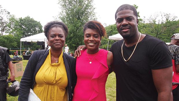 Danielle Williams with daughter Domonique Williams and son Michael Williams.