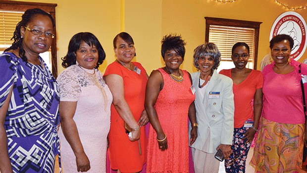 """Participants and employers pose with RCC staff at the annual Corporate and Community Education Appreciation Event in June 2016.  This yearly event serves as the RCC """"thank you"""" to our corporate partners."""