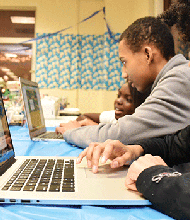 Our Kids' Computer Coding Club teaches young learners the important skill of computer coding in a fun, interactive setting.