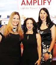 Latina Circle Co-Founders Eneida Roman and Betty Francisco, with NPR Latino USA. Host Maria Hinojosa at Center.