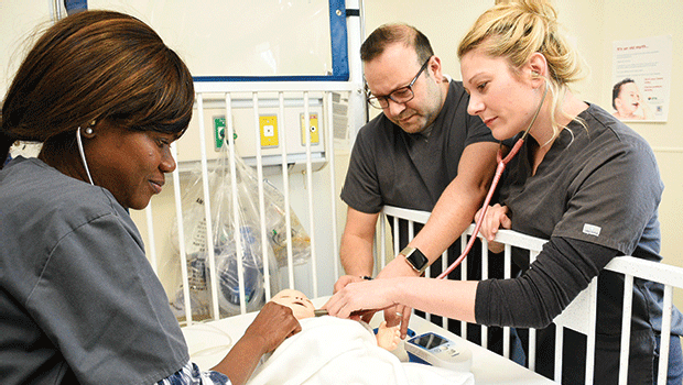 Students in RCC's nursing program receive hands-on instruction using simulation equipment purchased with the Massachusetts Skill Capital Grant, awarded by the Baker Administration. This top-of-the-line equipment will be moved to the new Allied Health Suite and augmented by additional new simulation equipment.