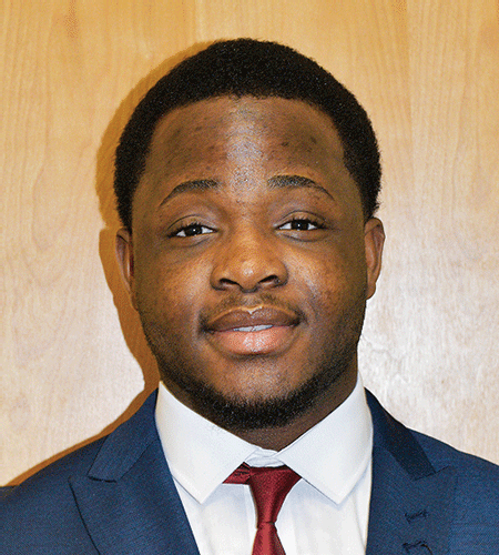 "Boston Okundaye, SGA President and ""29 Who Shine"" award winner.
