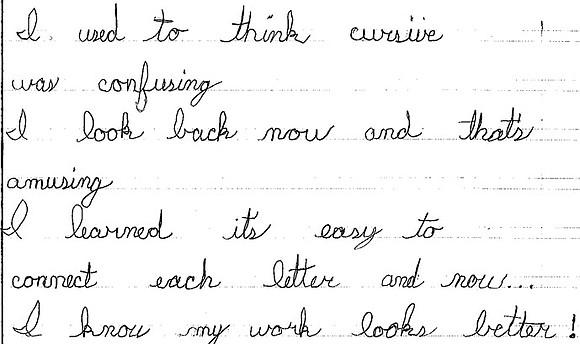 handwriting line