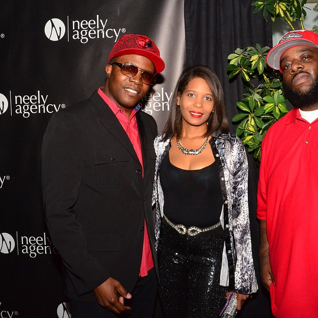 """The high-profile guests were plentiful. From left to right: Memphis recording artist Al Capone; Oona Mitchell, Royal Studios administrator and daughter of the late Willie Mitchell; and Frazier Boy, Academy Award winning director of """"Hustle and Flow."""""""
