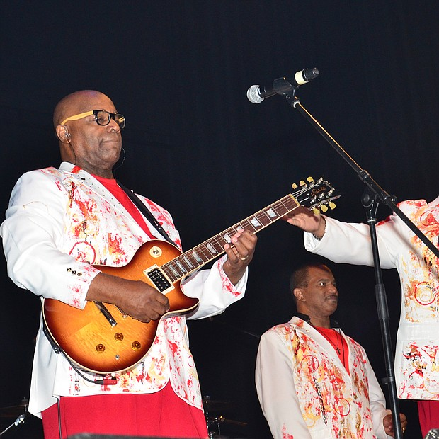 Performing ConFunkShun performing at the farewell concert for Larry Dodson of the Barkays held at the Canon Center in Memphis.