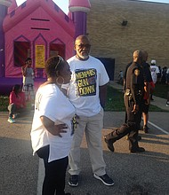 "Bishop Mays said Memphis Gun Down is addressing a problem situation that does not have a quick fix, adding that it's important to celebrate ""small successes."" He and Program Coordinator Nina Allen-Johnson work closely in the creation of summer safe zones for area youths. (Courtesy photos)"