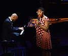 Vocalist Cecile McLorin Salvant and her accompanist, pianist Aaron Diehl