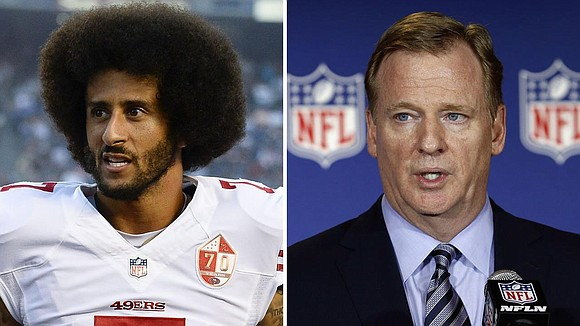NFL commissioner Roger Goodell again dismissed claims that Colin Kaepernick is being blackballed by the NFL and skipped over by ...