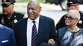 Bill Cosby is accompanied by his wife, Camille, to the Montgomery County Courthouse in Norristown, Pa., during one of the final days of his criminal trial on sexual assault charges.