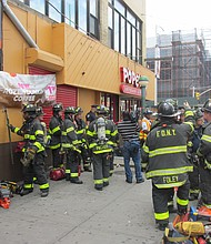 FDNY firefighters at the 125th Street subway station