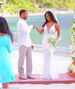 Kenya Moore is still wrapped in the glow of wedded bliss.