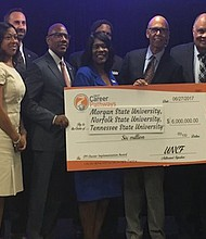 Besides TSU, UNCF also awarded a $2 million grant to Morgan State University and Norfolk State University. (Courtesy photo)