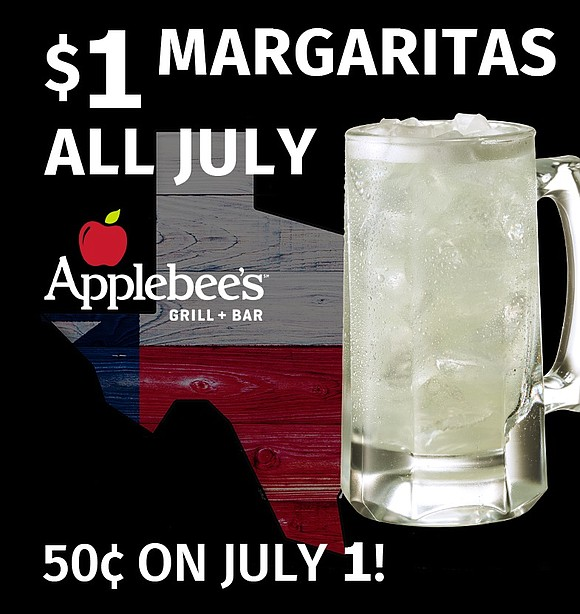 As the saying goes: Everything is Bigger in Texas; yet in July, the price of a margarita at participating Applebee's ...