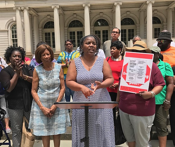 The NAACP, NYCHA tenants and advocates gathered at City Hall Monday to speak out against a potential law requiring apprenticeships ...