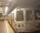 Subway at 125th Street following the derailment
