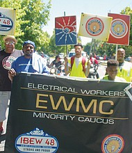 Electrical workers from IBEW Local 48 promote diversity in the trades.