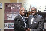 (left) Charles Steele Jr., (right) Bernal E. Smith II