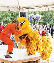 Chinese culture is depicted in a lion dance performed by the Northwest Dragon and Lion Dance Association. The group will participate with other traditional ethnic dancers when Ten Tiny Dances, a free public event is held on Saturday, July 8 at City Park in Beaverton.