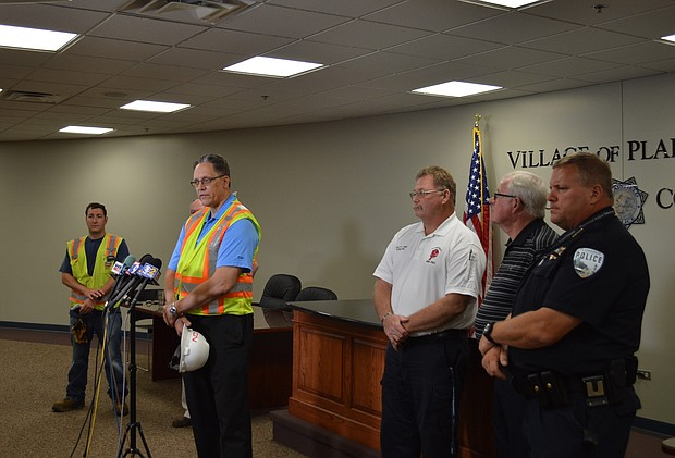 Canadian National Director of U.S. government affairs Jim Kvedaras said that he didn't have a confirmed figure for the amount of spilled fuel during a Friday night derailment in Plainfield.
