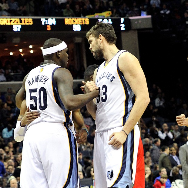 Randolph and Marc Gasol teamed up to make one of the toughest and most physical low-post tandems for eight seasons.