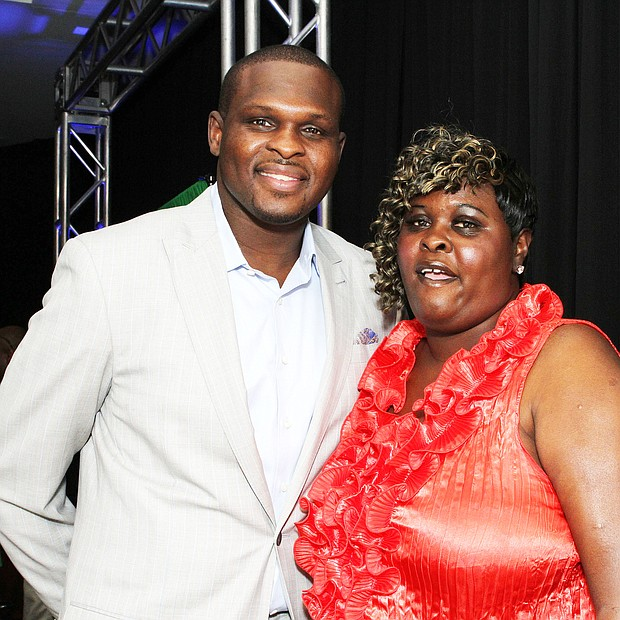 Randolph was joined by his mother, the late Mae Randolph, at a Grizzlies charity event.
