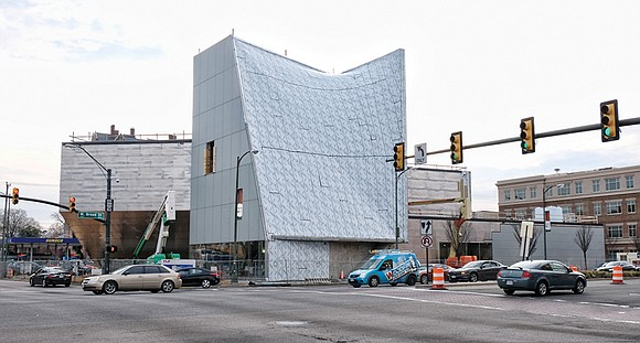 The tall, angular building at Broad and Belvidere streets that is to become the Institute for Contemporary Art stands out ...