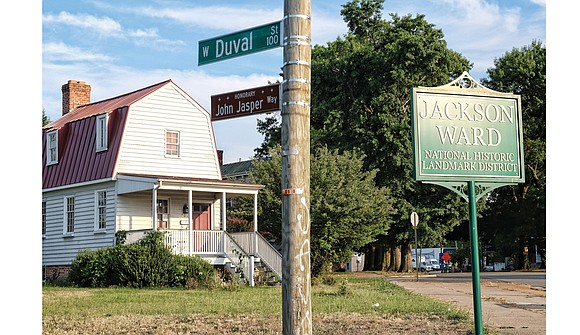 It's not official, but a stretch of Duval Street in Jackson Ward is now John Jasper Way. Unveiled last Sunday ...