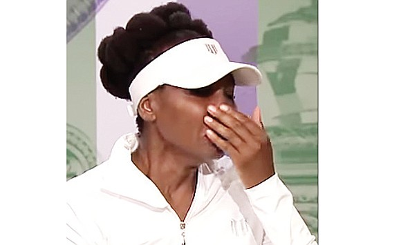 Tennis star Venus Williams broke down in tears during her post-match news conference at Wimbledon on Monday when asked about ...