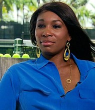 A police report says that Venus Williams is responsible for a car accident earlier this month in Florida, which caused injuries to a 78-year-old man who later died. Pictured is Venus Williams from an interview with CNN's Fredricka Whitfield in 2011.