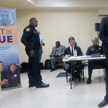 The Memphis Police Department hosted a community meeting in Hickory Hill to discuss community police relations. (Photo: Dalisia Brye)