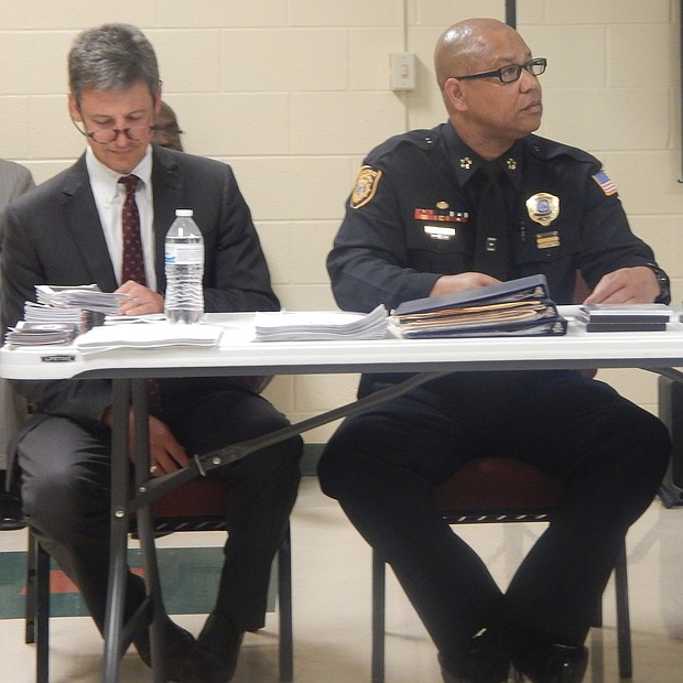 MPD Director Michael Rallings (center) was a panelist at the police-community relations meeting in Hickory Hill. (Photo: Dalisia Brye)