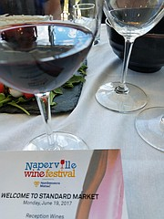 The Standard Market in Naperville is one of the sponsors of the Naperville Wine festival. Some Wines from the poured at the fest will be available at the market