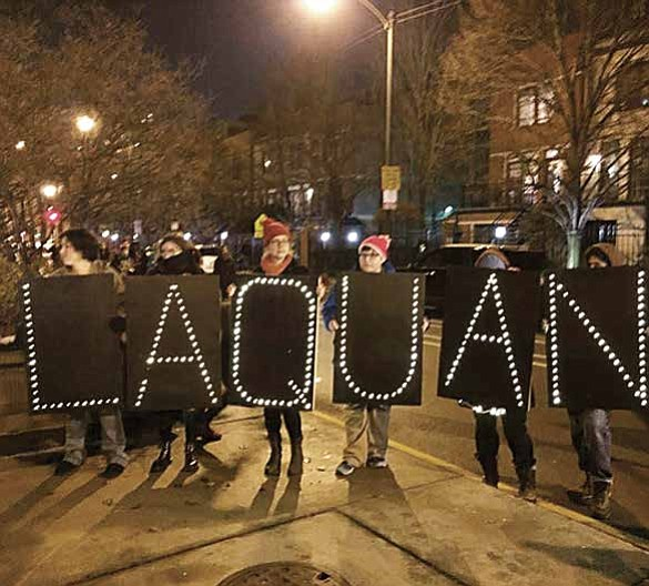 17-year-old Laquan McDonald is shot 16 times by Chicago Police Ocer Jason Van Dyke on Oct. 20, 2014 and dies.