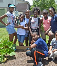The Barksdale Boys and Girls Club will compete in the 2017 Salsa, Salsa event with an original recipe and two ingredients grown in their own club garden. Pictured Garden Club members Shauna Castle, Asonnah Ward, Jaela Cash, Makalah Wooten, Jaliyah Web, James Forehand, Miles McDaniel with supervisor Amelia Davis, back row right.