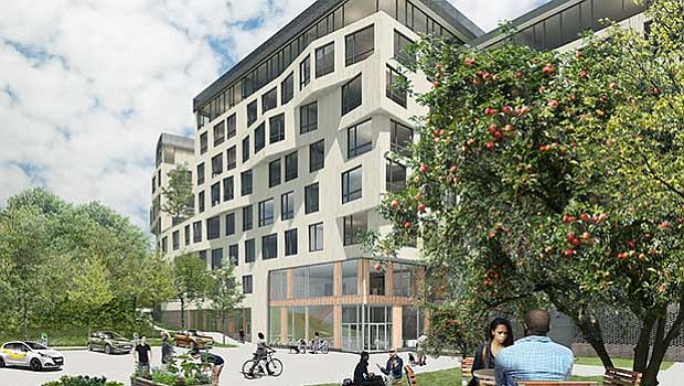 A rendering of the proposed rental units at 45 Townsend St.