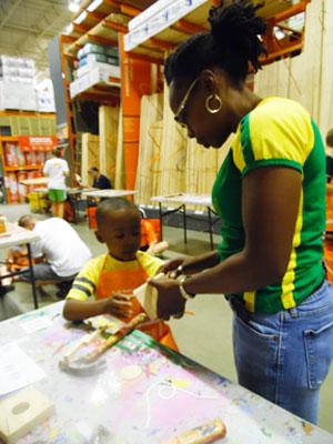 Home depot celebrates 20th anniversary of kids workshops for Kids crafts at home depot