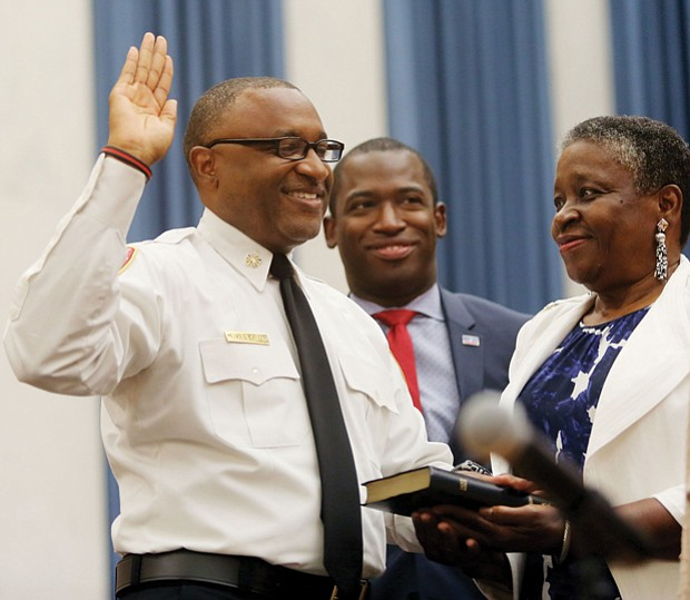 He's officially on duty //
