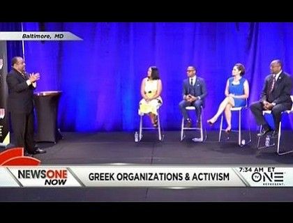 """Broadcasting live from the Alpha Phi Alpha 94th General Convention in Baltimore, host and managing editor Roland Martin addressed the disconnect between social activism and historically black sororities and fraternities within the show's panel discussion, collectively known as the """"Divine Nine."""""""
