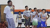 Former Memphis Tigers star Tarik Black works through drills with young players at his Transformation50 basketball camp.
