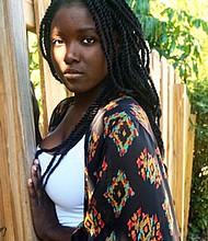 "Caribbean-born actress Kisheera Victrum plays voodoo priestess ""Fabienne"" in the production."