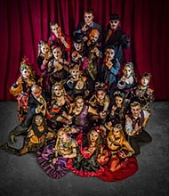"PHANTASMAGORIA's ""Wickedest Tales of All"" features storytelling, dance, live music, explosive stage combat, and large-scale puppetry."