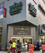 The front entrance of Whole Foods Market Harlem.