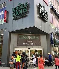 The front entrance of Whole Foods Market Harlem.