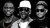 Kevin Hart, R. Kelly and Usher (photo Illustration by Elena Scotti/The Root/GMG; photos via Getty Images)